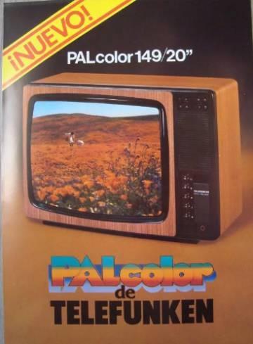 Anuncio del televisor Telefunken con sistema PAL: