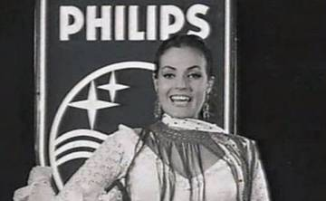 Anuncio de los televisores Philips en 1960 por Carmen Sevilla.