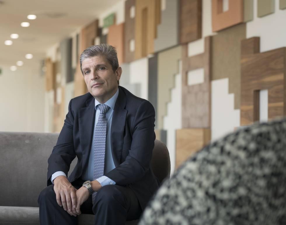 Gerardo Mariñas, en las oficinas que la multinacional WPP ha estrenado recientemente en el centro de Madrid.