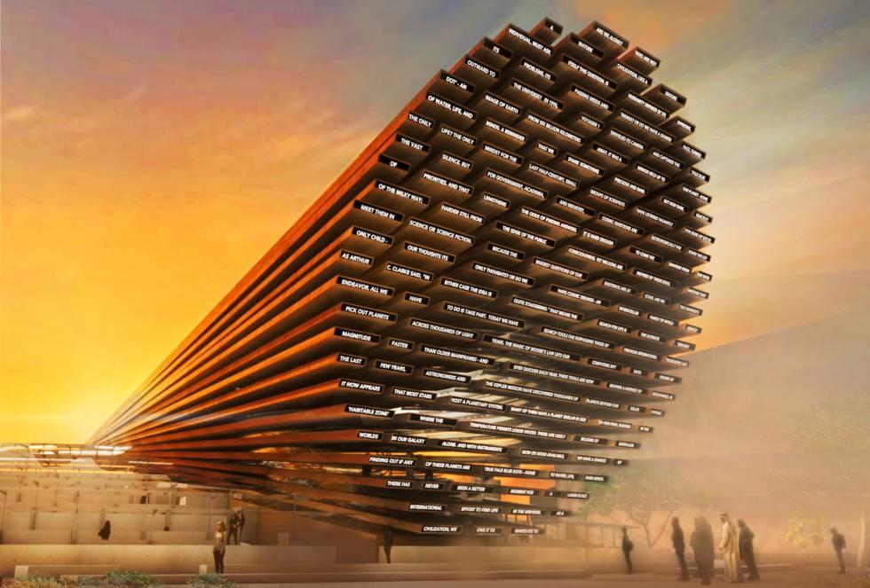Recreación del pabellón del Reino Unido en la Expo 2020 de Dubái.