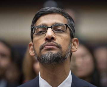 Sundar Pichai, at the US Congress, in December last year.