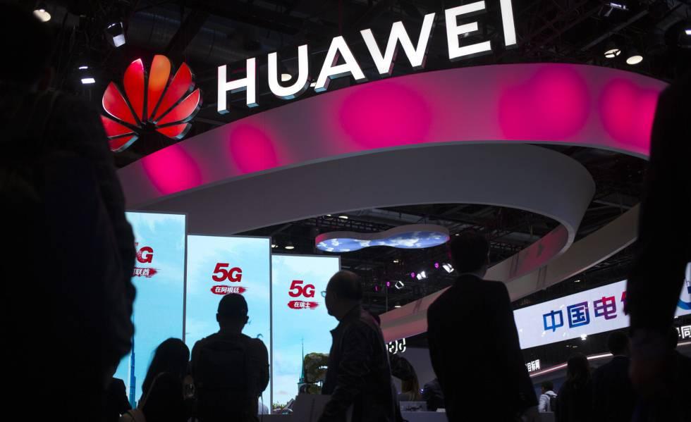 Stand de Huawei en una feria tecnológica en Pekín.