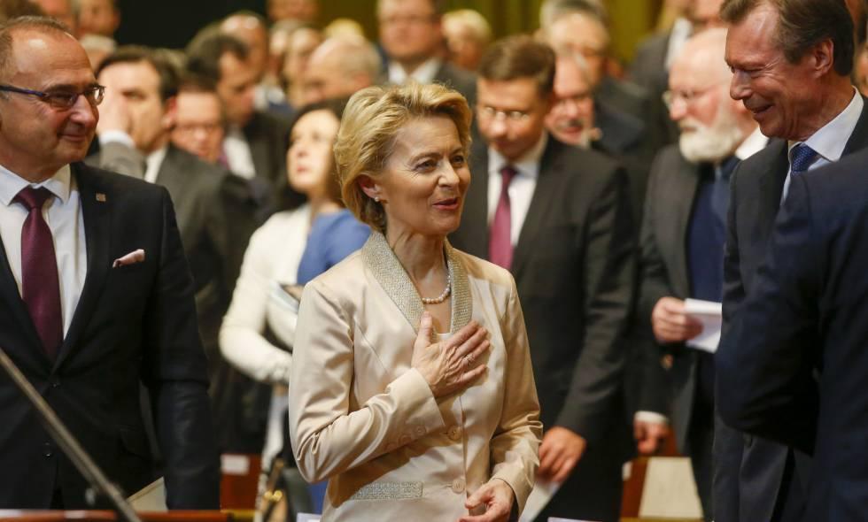 Die Präsidentin der Europäischen Kommission, Ursula von der Leyen, bei einer Veranstaltung in Luxemburg