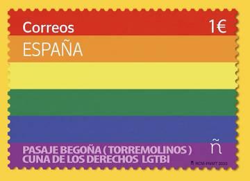 Sello de Correos en homenaje al día del Orgullo.
