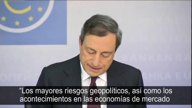Draghi adverte sobre as ameaças à zona do euro