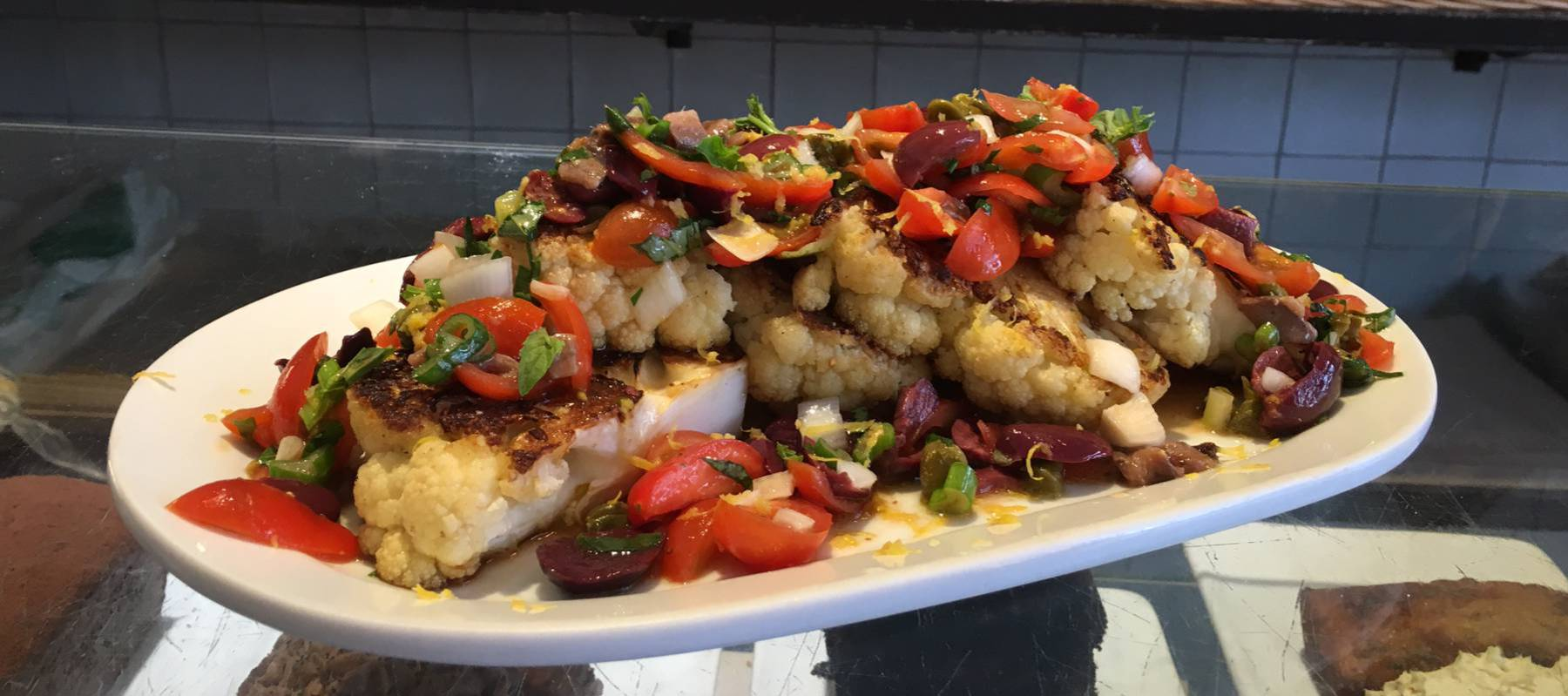 Filetes de coliflor con salsa italiana