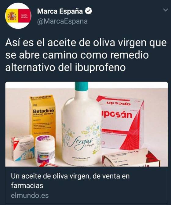 El Aceite De Oliva No Sustituye Al Ibuprofeno El Comidista El Pais