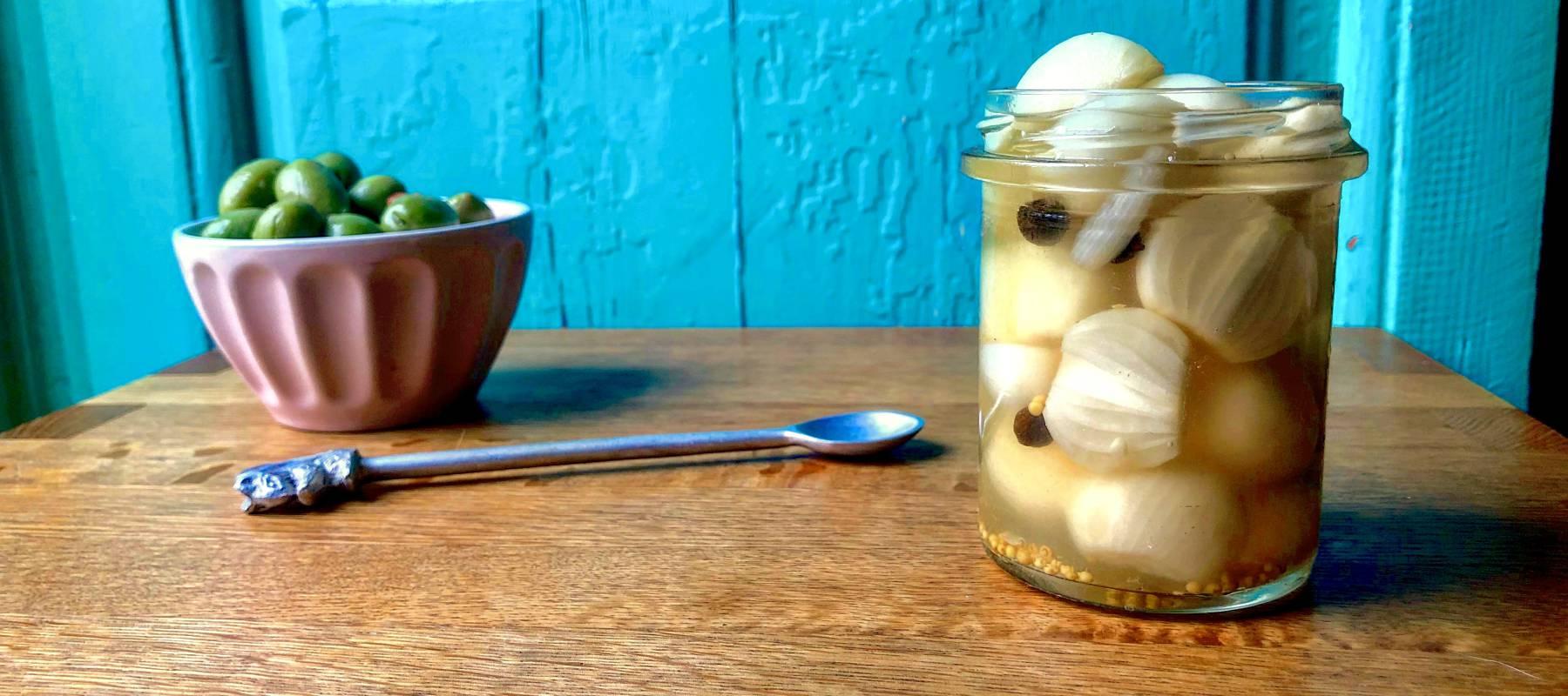 Con las manos en la masa: cebolleta en vinagreta