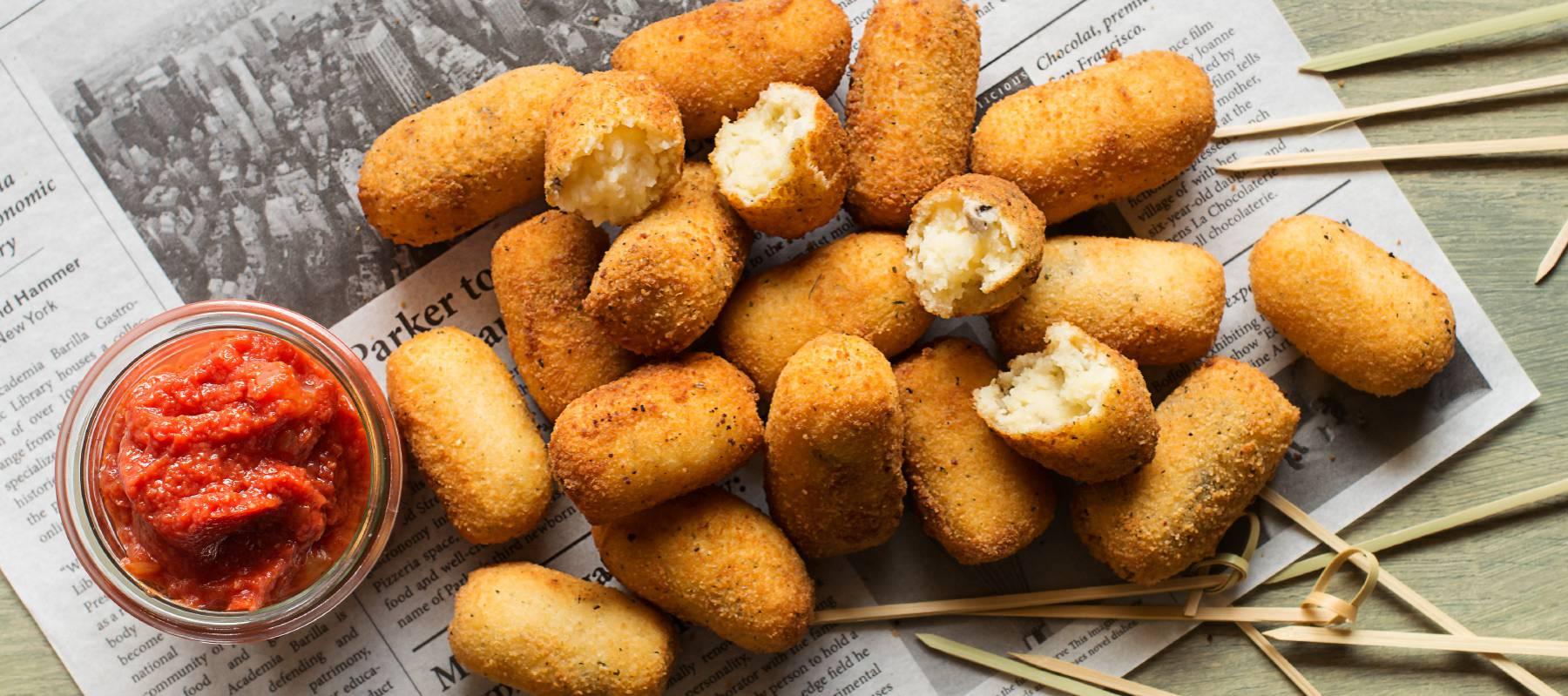Croquetas de patata y setas