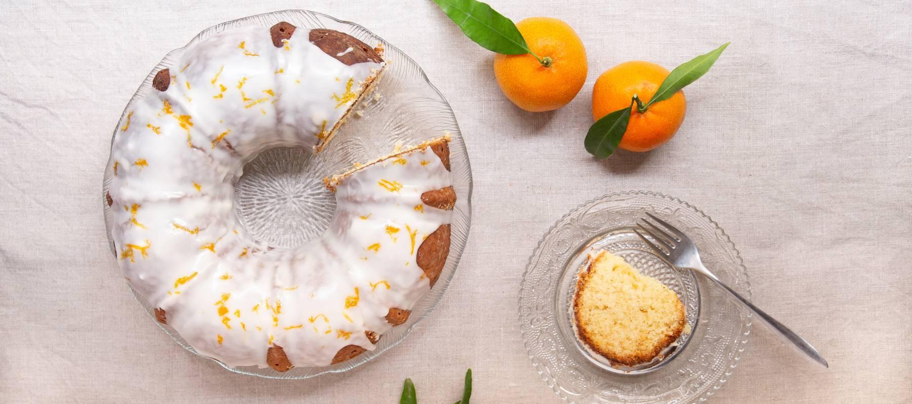 Bizcocho glaseado de mandarina