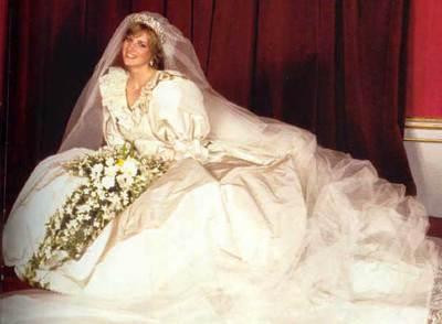 Resultado de imagen de vestido de diana de gales novia
