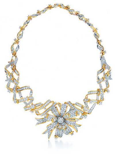 f75de715dc0d Collar Ribbon Rosette de Jean Schlumberger con más de 1.000 diamantes.