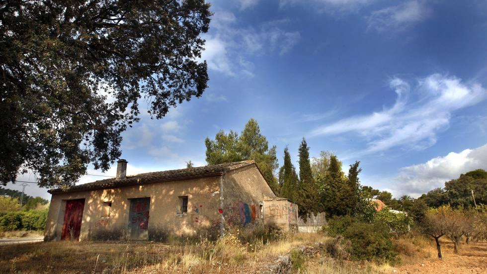 Caseta de Macastre (Valencia) donde apareció en 1989 el cadáver de la joven de 15 años Rosario Sayete Moedra.