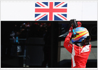 Alonso tires of silver and takes top prize in Britain