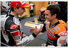 Champagne for Pedrosa, Evian for Lorenzo at Montegi