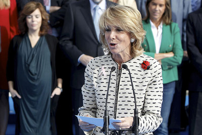 Madrid regional premier Esperanza Aguirre, photographed on Wednesday morning.