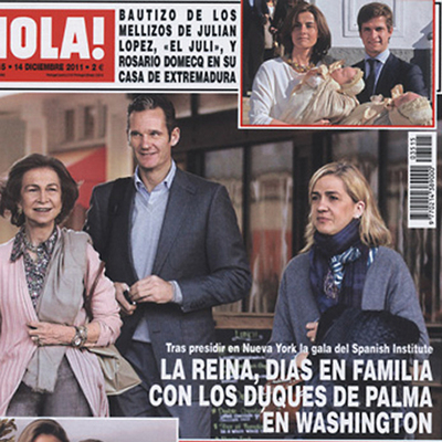 Recent issue of  ¡Hola!  magazine.