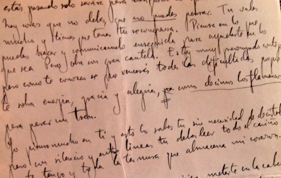 The newly unearthed letter written by Lorca on July 18, 1936.