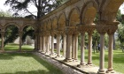 Uncovered cloister's origins remain unsolved
