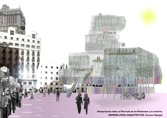 Architects Espegel-Fisac's designs for the new-look Mercado de Mostenses.