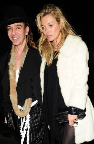 John Galliano y Kate Moss en Londres en 2011