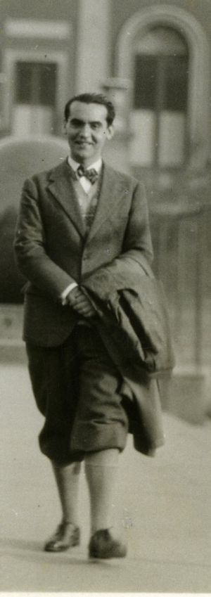 Lorca, at Columbia University in 1929.