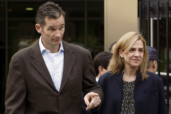 Iñaki Urdangarin and his wife Princess Cristina, both of whom have been dragged into a corruption scandal.