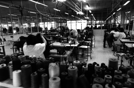 A Zara factory in the 1990s.