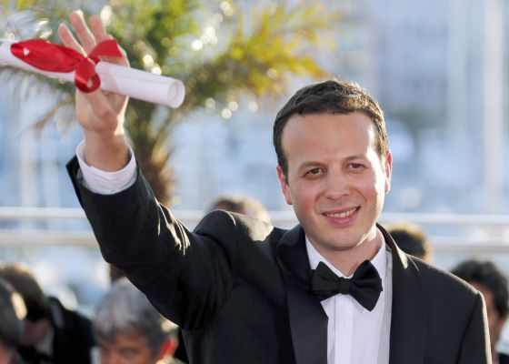 Escalante with his Cannes Best Director Award.