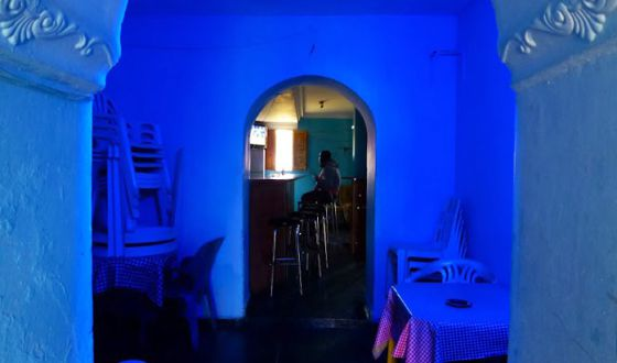 The unnamed bar where some prostitutes work in Roquetas de Mar.
