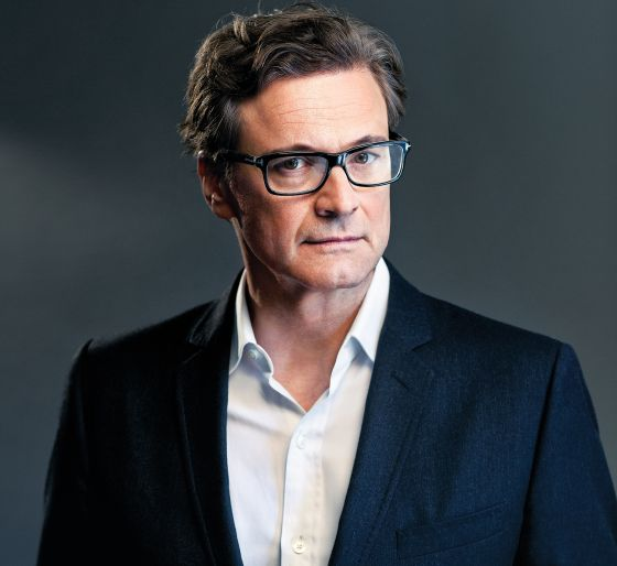 Retrato de Colin Firth.