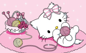La mascota de Hello Kitty, la gatita Charmmy Kitty.