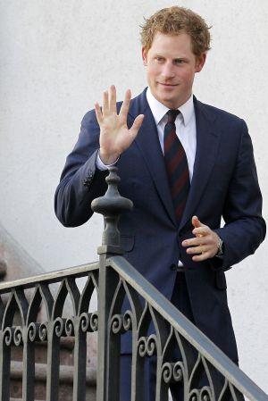 O príncipe Harry, durante uma viagem oficial ao Chile.