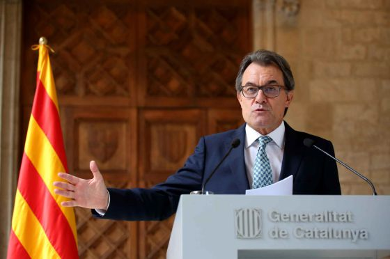 Catalan regional premier Artur Mas during his statement on Tuesday.