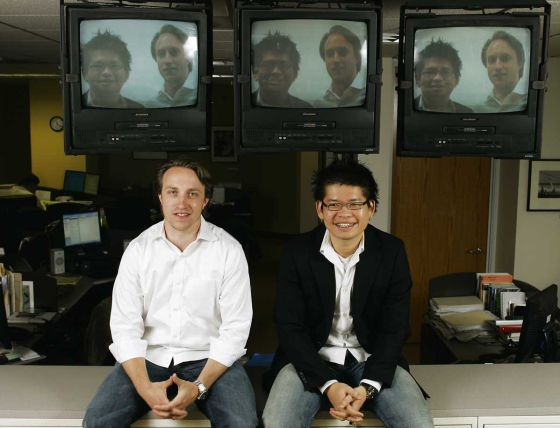 Chad Hurley e Steve Chen, criadores do Youtube.