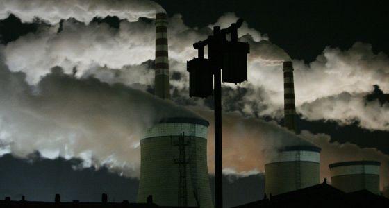 Una planta de carbón en el distrito de Datong Shanxi. Julio-agosto de 2013 fue el periodo más caluroso en la zona central y oriental de China desde 1951.