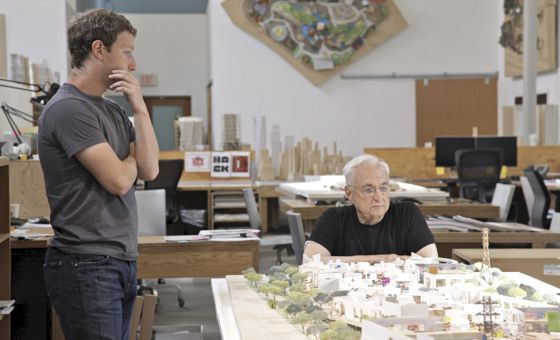 Mark Zuckerberg y Frank Gehry