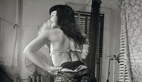 La 'pin-up' Bettie Page, famosa en la década de los 50.