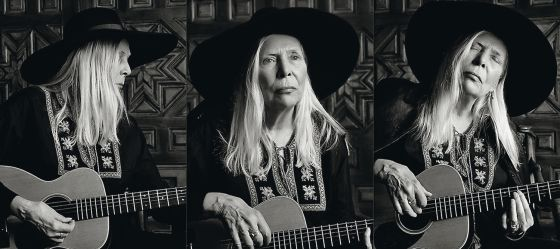 Joni Mitchell, retratada para Music Project de Yves Saint Laurent.