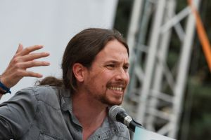 Podemos leader Pablo Iglesias has been drifting to the center of the political spectrum, Monedero believes.