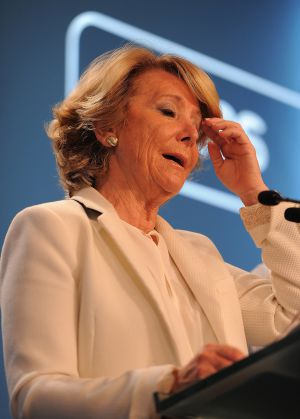 Esperanza Aguirre of the PP won more votes in Madrid but not enough to prevent a likely deal between the Socialists and Ahora Madrid.