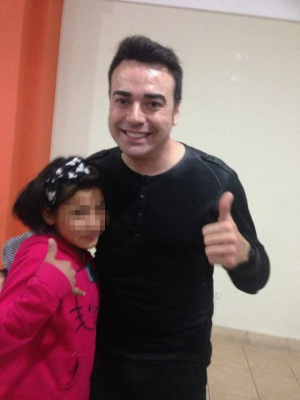 José Manuel Ramírez with one of the girls from the shelter in Arequipa, Peru.