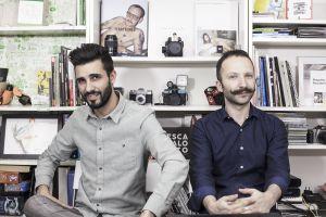 Pablo Galeano y Francesco Furno en la sede de Relaja el Coco, en Madrid.