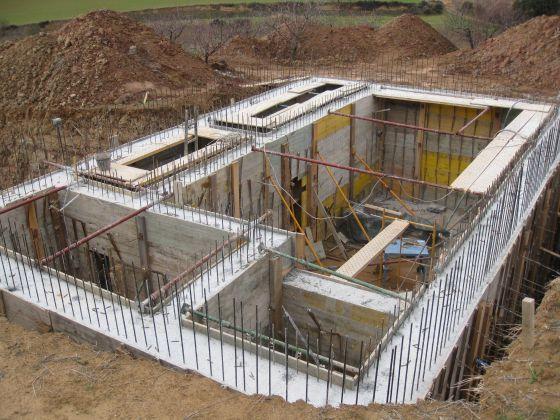 Un búnker en plena construcción.