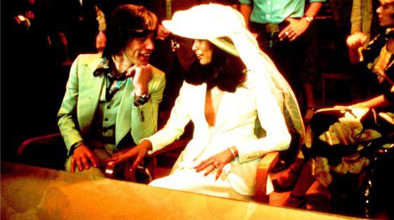 Mick y Bianca Jagger, el día de su boda.