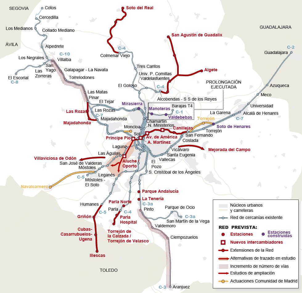 Tiempo En Madrid Espa A 15 Dias: Plan De Infraestructuras Ferroviarias De Cercanías Para