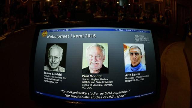 Os ganhadores do Nobel de Química