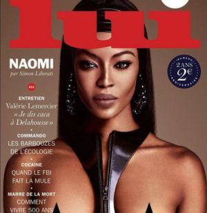 La última portada (octubre) de 'Lui', con la modelo Naomi Campbell.