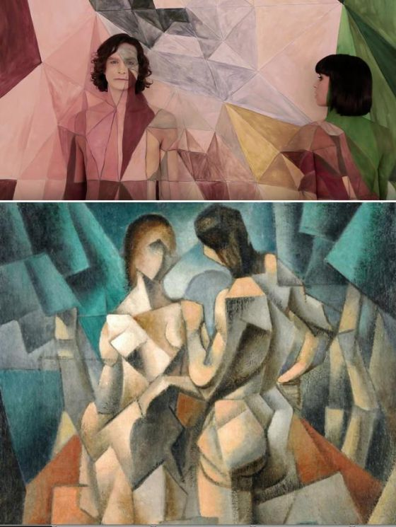 Imagen del vídeo 'Somebody that I used to know' de Gotye. Jean Metzinger, 'Dos desnudos', 1910.