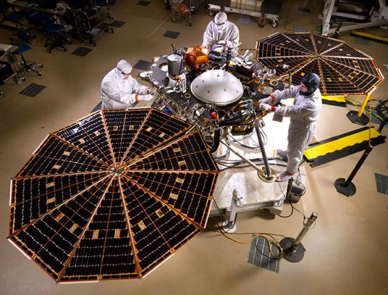 La sonda espacial 'InSight', de la NASA